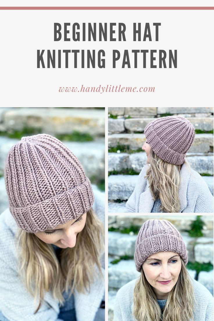 How To Knit A Hat With Straight Needles in 2020 | Hat ...