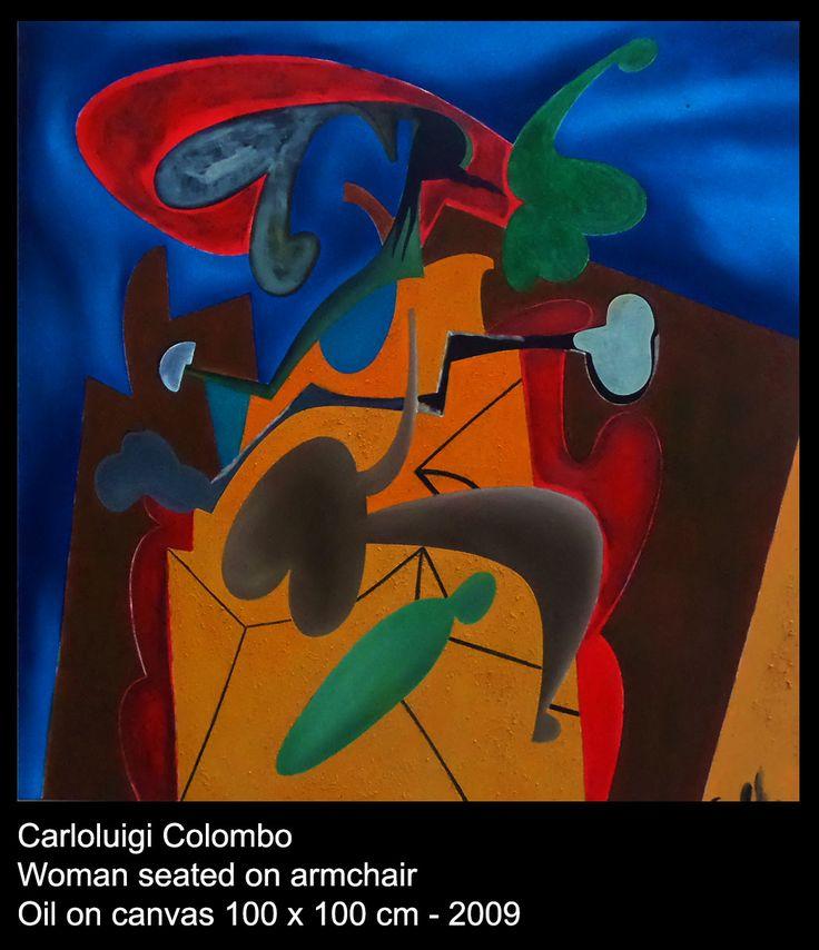 riolo terme, esorinist, painting, canvas, faenza, woman, armchair, colombo, carlo, Italy, Italian art
