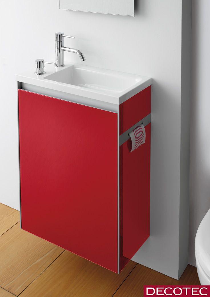 Decotec Le Lave Mains Avec Distributeur De Savon Smarty 46 Cm 1 Porte Derouleur Rouge Espelette Ce Dernier Dispose Distributeur Savon Lave Main Lave