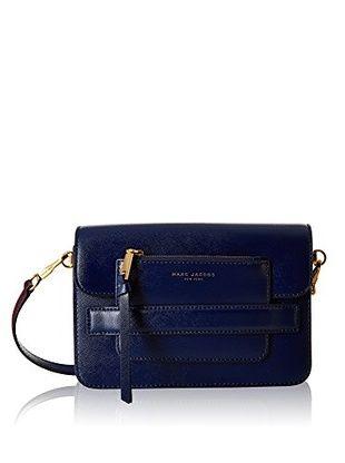 Marc Jacobs Borsa A Tracolla Madison Saffiano Medium Shoulder Bag (Blu Scuro)
