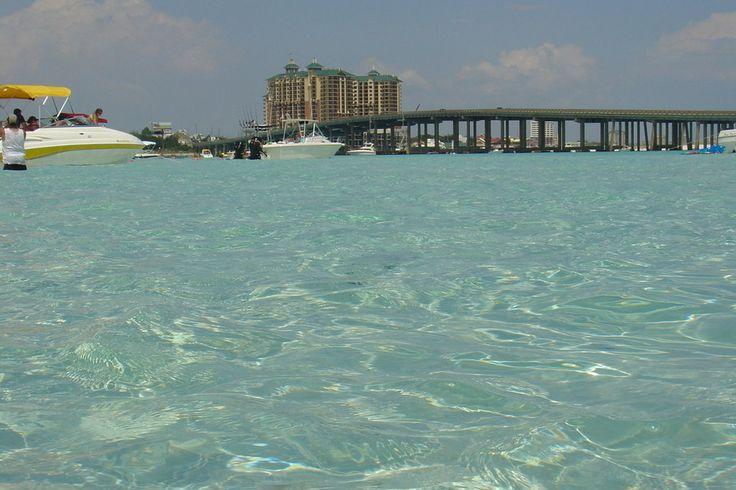 "Looks like a swimming pool, but it's actually ""crab island"" in Destin,Fl. You're looking at Choctawhatchee Bay."