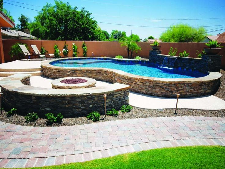 Raised pool outdoor ideas pinterest for Raised pool designs