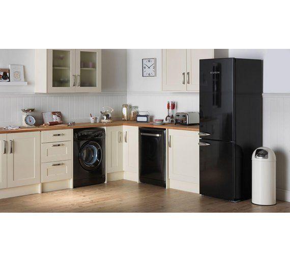 Buy Bush Classic BFFF60 Retro Fridge Freezer - Black at Argos.co.uk, visit Argos.co.uk to shop online for Fridge freezers, Large kitchen appliances, Home and garden #HomeAppliancesFreezers