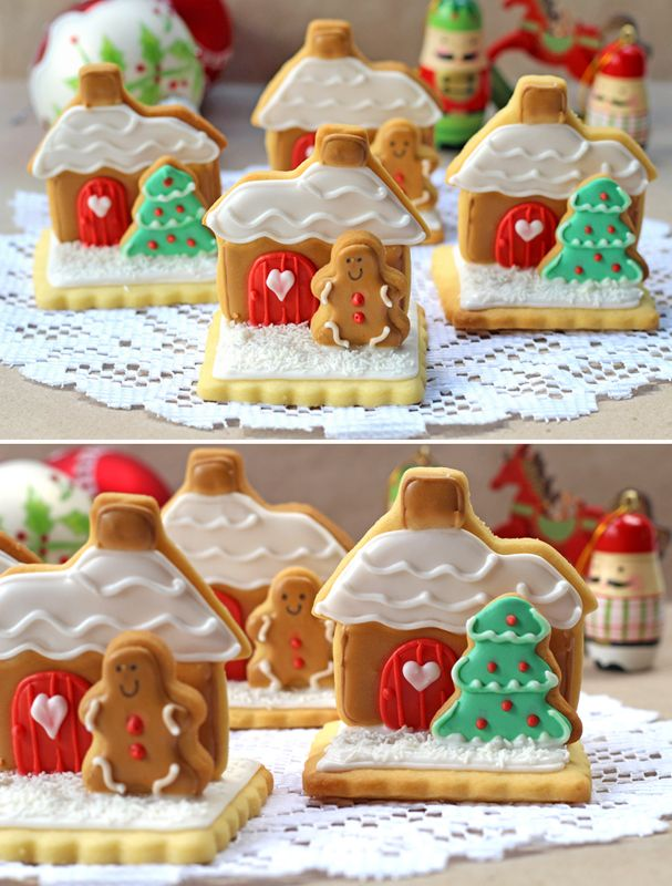 Cutest Christmas cookies ever. Great party favors or teacher gift or just a really cute edible decoration.