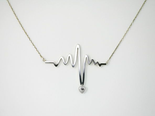 """Heart beats for someone special."" I'd prefer it without the heart entirely, but I like the sentiment. #necklace"