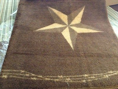 Good Western Decor Laredo Star Bath Or Kitchen Rug | EBay