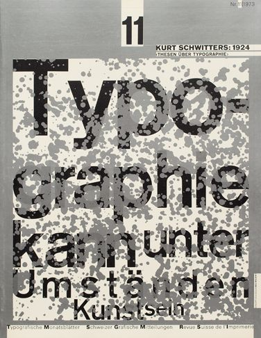 1973 Issue 11 - Cover Design  Wolfgang Weingart