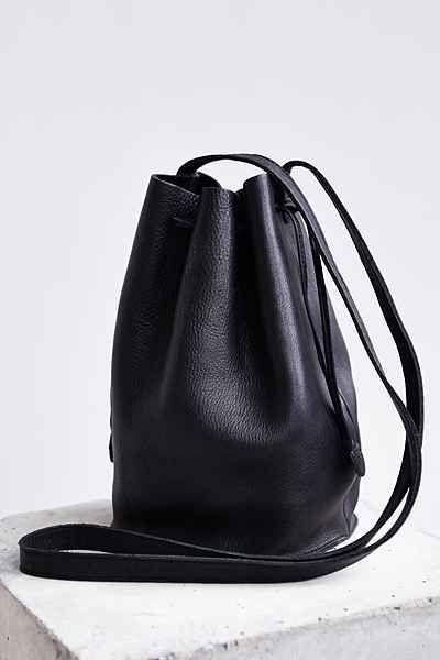 MINIMAL + CLASSIC: BAGGU Leather Drawstring Bucket Bag - Urban Outfitters