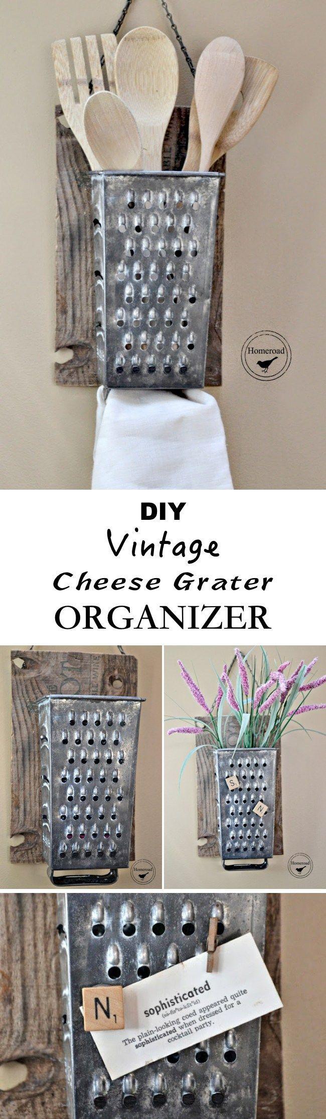 the  best grater ideas on pinterest  recycled yard art cute  -  innovative diy kitchen organization  storage ideas cheese graterkitchen