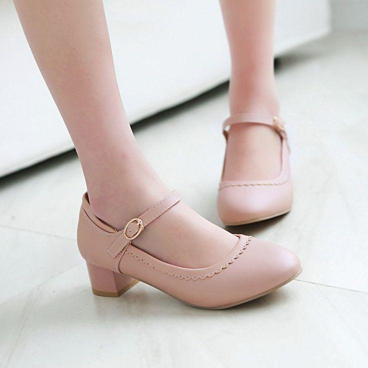 Heels: approx 4 cm Platform: approx - cm Color: Black, Pink, Beige Size: US 3…