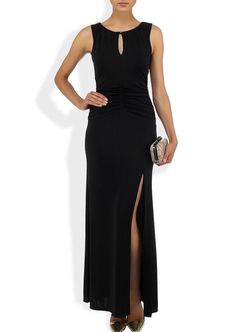 Черное платье-макси от Nadine - отличный выбор для выхода в свет. Модель прилегающего силуэта выполн