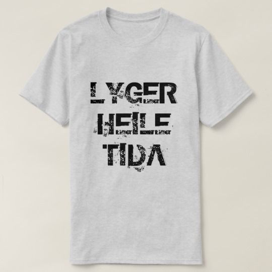 Norwegian text lyger heile tida lying all the time T-Shirt A grey t-shirt with a text in Norwegian: lyger heile tida that can be translate to: lying all the time.