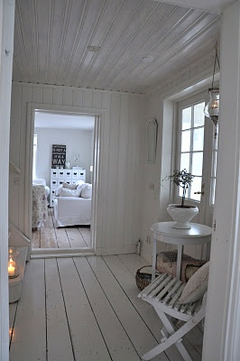 wooden walls & ceiling...