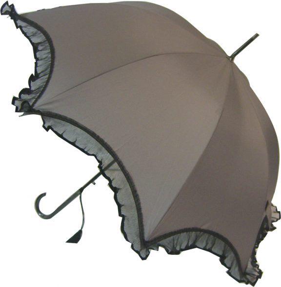 "Lot of 12-48/"" Arc Parasol Style 3-Ruffle Umbrella-RainStoppers UV Costume"