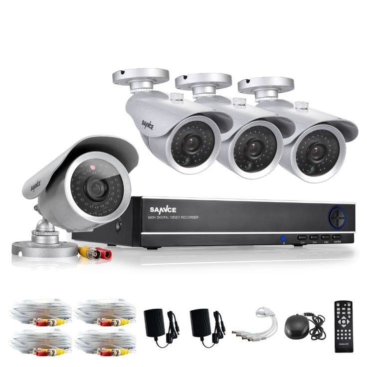 111.99$  Buy here - http://ali7ki.worldwells.pw/go.php?t=32655442123 - SANNCE CCTV System HD 8CH HDMI DVR 4PCS Home Security Silver Bullet Camera Video Surveillance System Kit 111.99$
