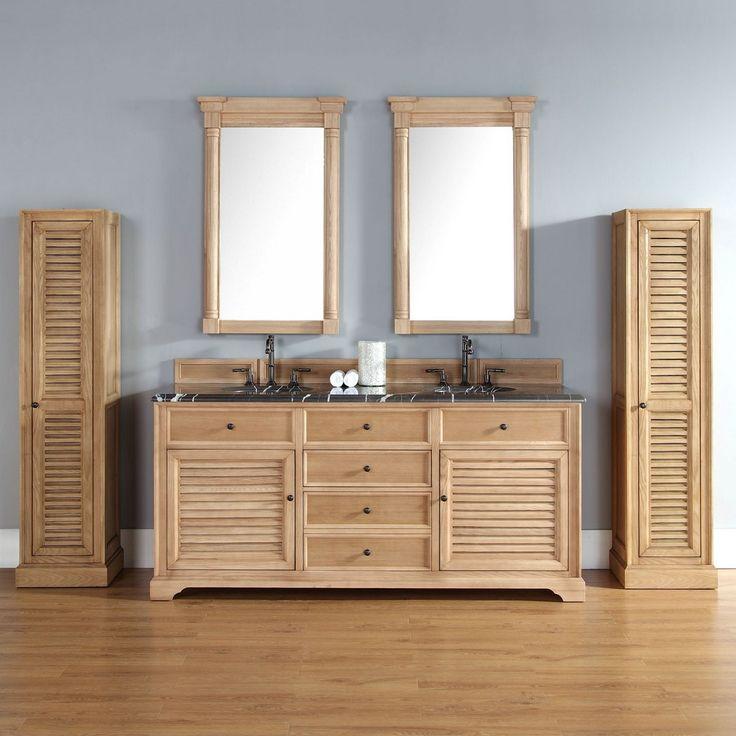 savannah 72u201d traditional natural oak double sink bathroom vanity by james martin model