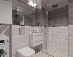 Łazienki 003 - Średnia łazienka w bloku bez okna, styl nowoczesny - zdjęcie od YOANdesign