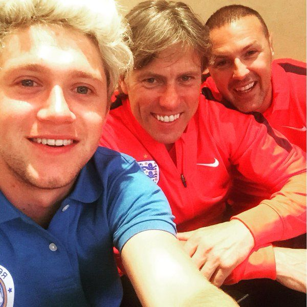 Niall with John Bishop and Paddy McGuinness