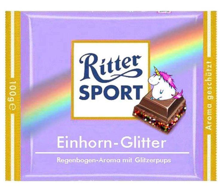 RITTER SPORT Fake-Sorte Schokolade Einhorn-Glitter