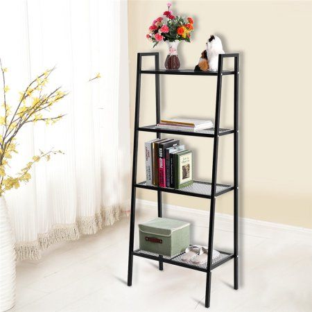 4 Tier Ladder Shelf Bookcases Corner Leaning Ladder Shelf Black Big Bookcase Shelves Leaning Ladder Shelf