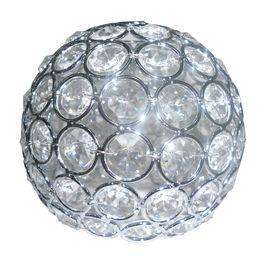 New Faux Crystal Light Shade Bathroom Ceiling Fan Vanity Hollywood Glam