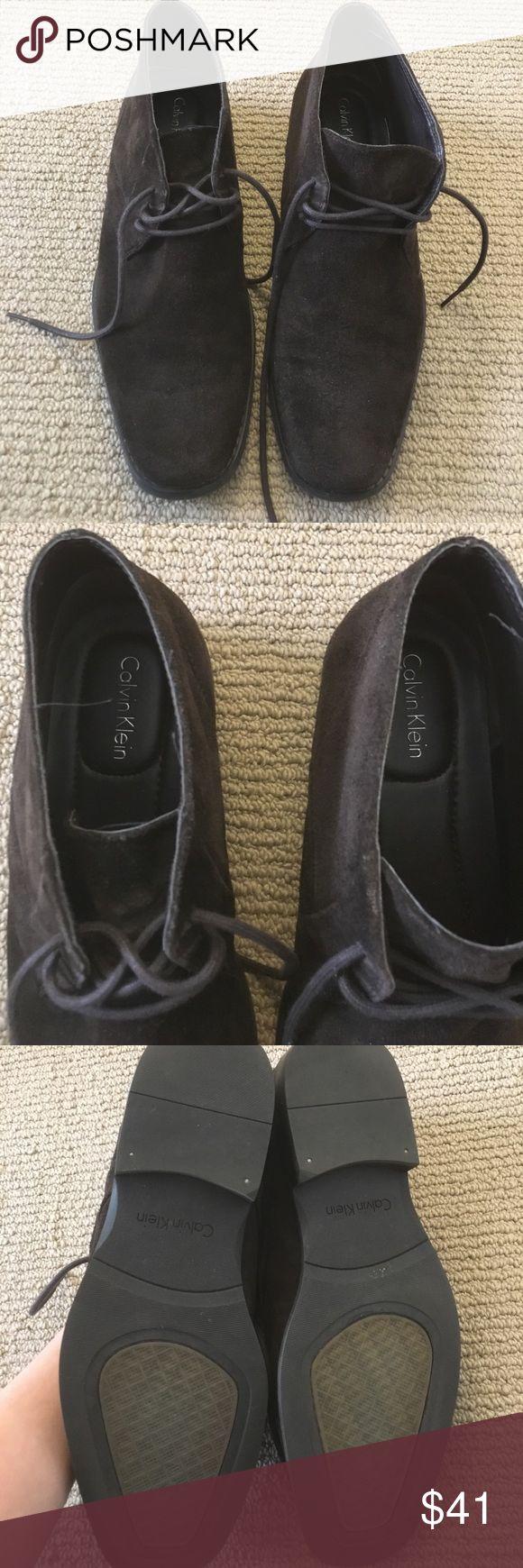 MEN'S Calvin Klein brown suede shoes Beautiful MEN'S Calvin Klein brown suede shoes in great condition. Calvin Klein Shoes Chukka Boots