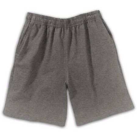 Hanes Boys Jersey Pocket Shorts, Size: Large, Black