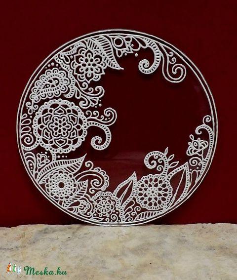 Henna-mintás mandala, Dekoráció, Otthon, lakberendezés, Kép, Falikép, Meska