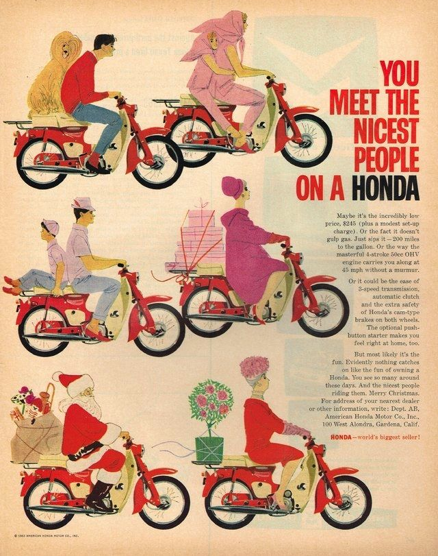 The Honda Super Cub - the world's most common motor vehicle.