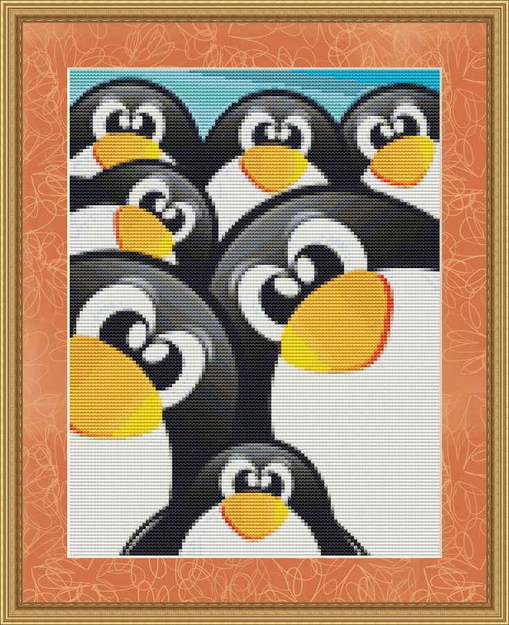 Counted Cross Stitch Pattern Penguins  Cute by StitchXCrossStitch, $2.95
