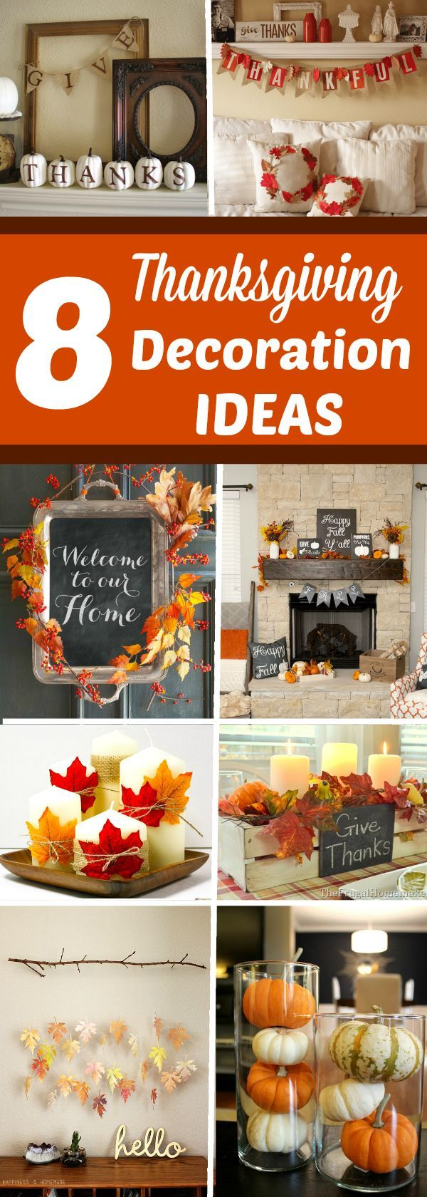 8 easy DIY Thanksgiving Decoration Ideas that won't break your budget! Whether or not you're ready to hear it, Thanksgiving is right around the corner.