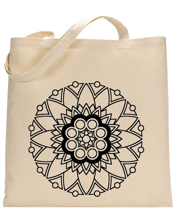 Mandala tattoo design tote bag by BforBertha on Etsy