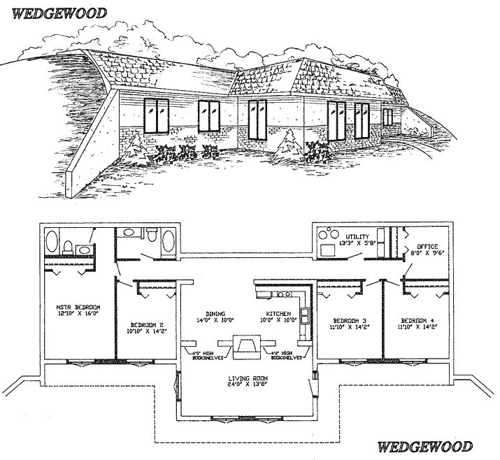 25 best ideas about underground house plans on pinterest for Earth sheltered floor plans