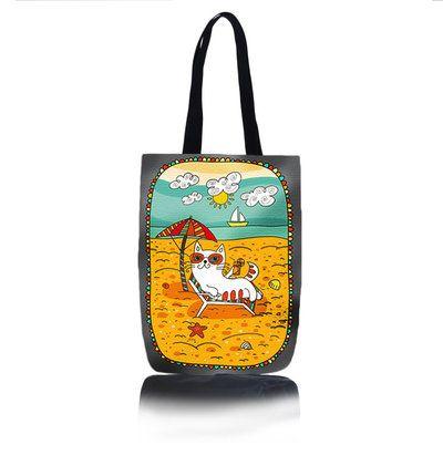 Kabelka Mačka - Na pláži | Dedoles
