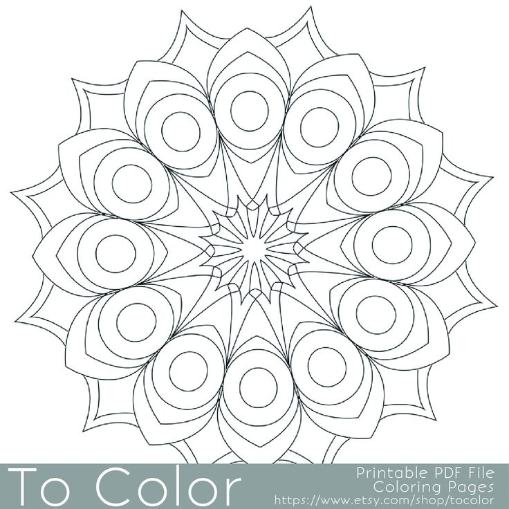 "Funky Mandala Original Adult Coloring page ""Spheres of"