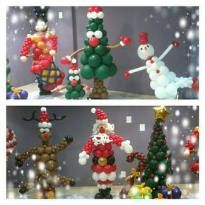 12794 best balloon creations images on pinterest balloon - Decoracion de navidad con globos ...