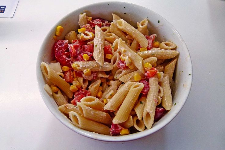 WW - Leichter Nudelsalat mit Paprika und Champignons (Rezept mit Bild) | Chefkoch.de
