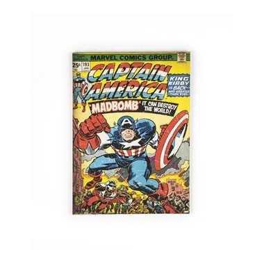 Marvel Comics canvas Captain America - 50 x 70 cm  Je slaapkamer krijgt een stoere uitstraling met dit Marvel Comics canvas waarop Captain America te zien is.  EUR 21.99  Meer informatie