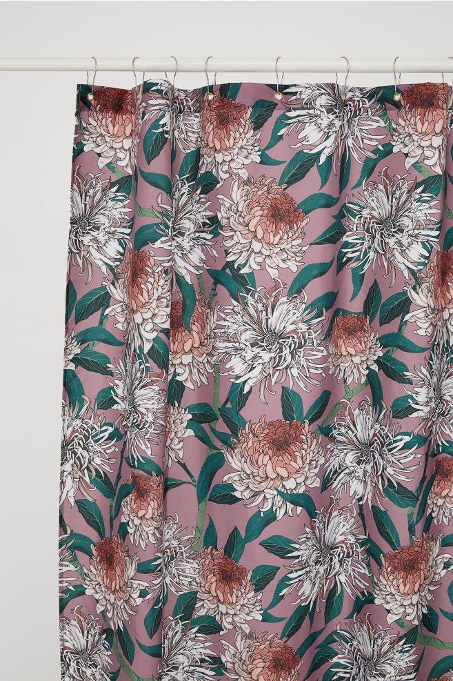 Shower Curtain Purple Floral H M Us 1 Purple Shower