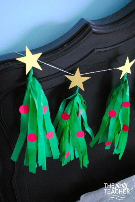 Christmas Tree Tissue Garland by The Party Teacher-33