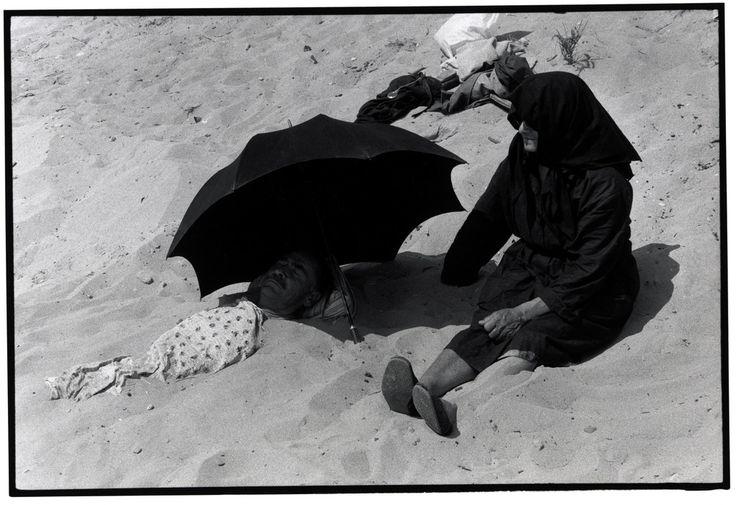 """Constantine Manos GREECE. Peloponnesus. 1970. On the beach. """"A Greek Portfolio"""" p.45 © Costa Manos/Magnum Photos"""