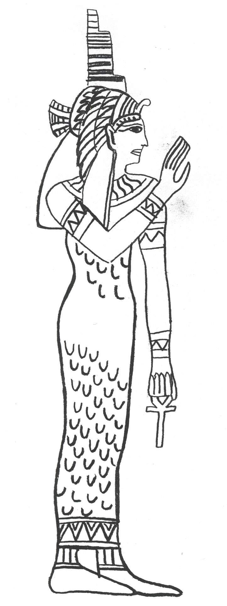 egyptian women coloring pages - photo#17