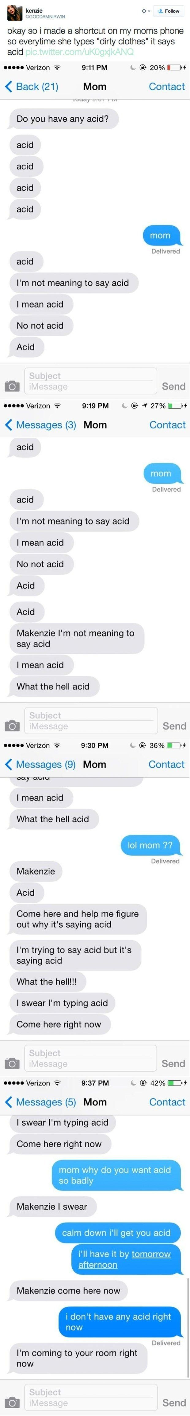 Mackenzie's wonderful mom. | 38 Parents Who Have Mastered The Art Of Texting