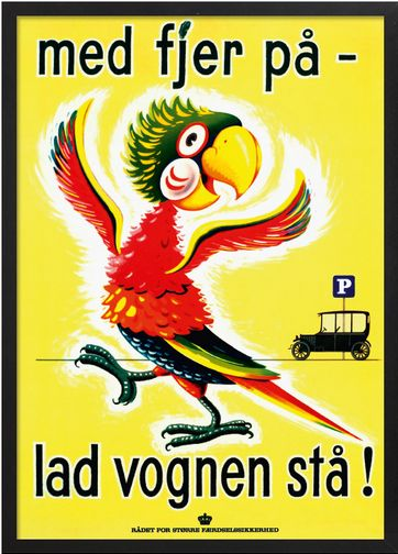 Danish poster - when drinking = no driving