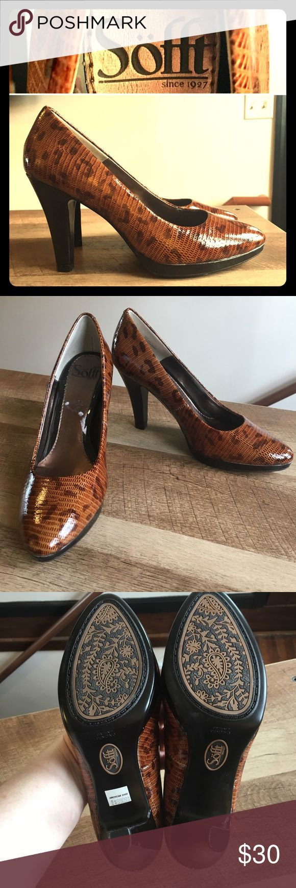 """Soft Cheetah Heels Like New Like New. There is a small spot on the bottom where some remover was used to clean something off, but they are in perfect condition. Heel height: 3.5"""" Sofft Shoes Heels"""