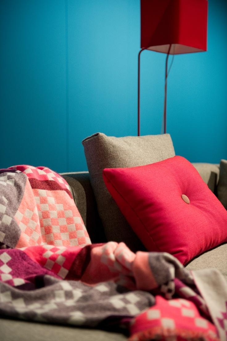 Hay dot cushions