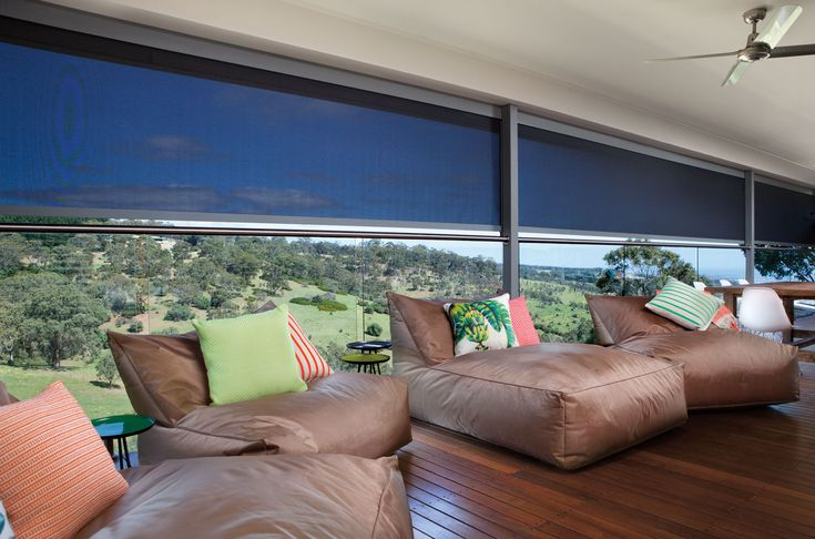 ambient blinds for patios. patio blinds, patio awnings. Enclosed patio, patio privacy, patio wind shield, patio sun protection, patio shade