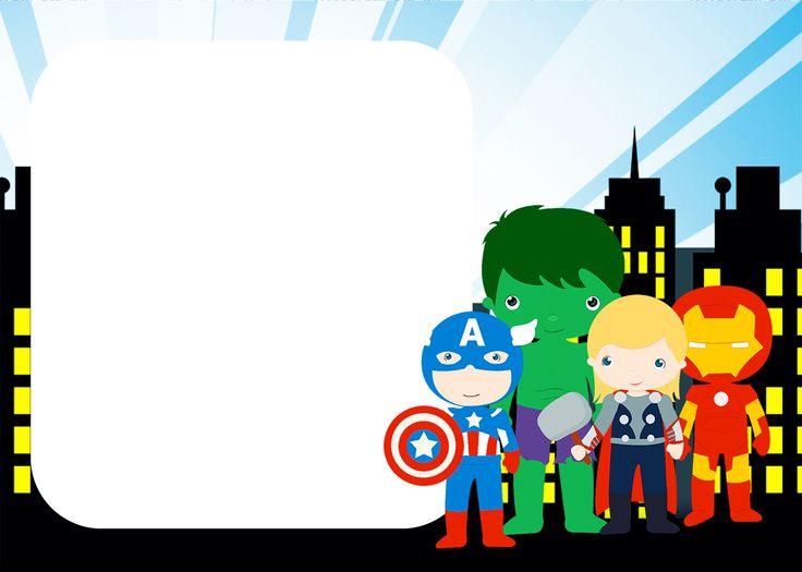 Los Vengadores Chibi: Invitaciones para Imprimir Gratis.