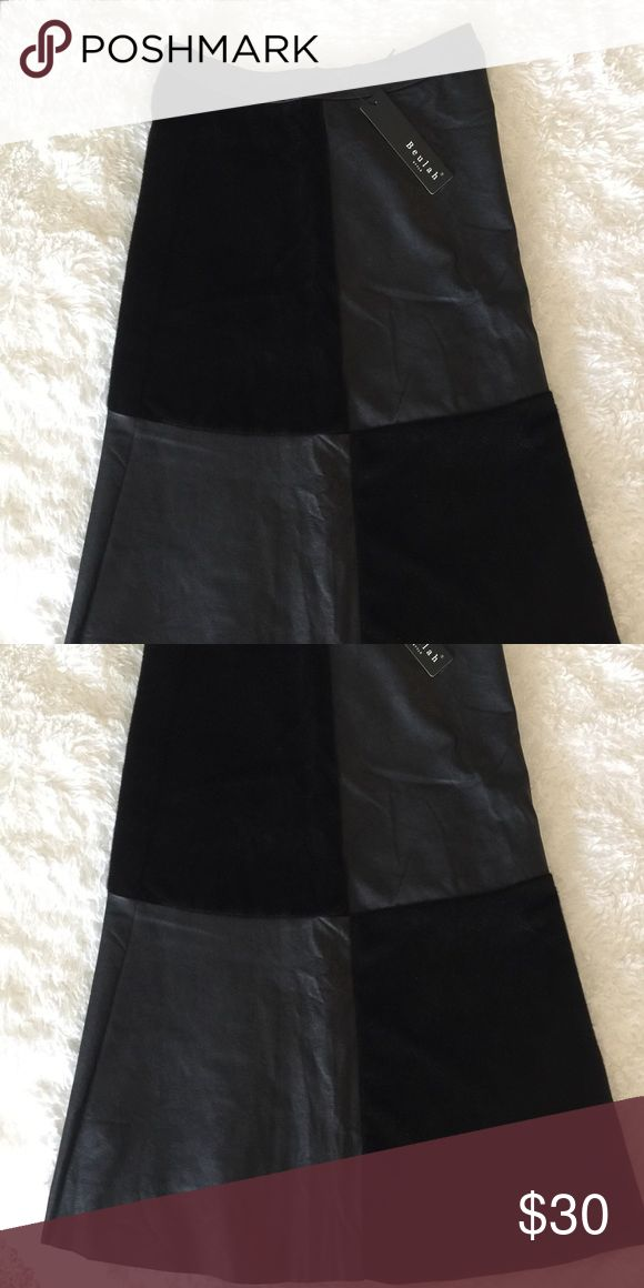 "NWT Faux Leather A Line Skirt Never Worn. Long A Line faux leather skirt. 29"" from waist to hem. Its been folded this is why it looks wrinkled. Will steam before shipping. Never Worn! Skirts A-Line or Full"