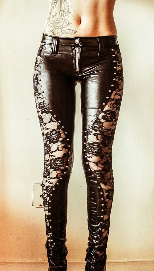 Lace and leather...my two best pals.